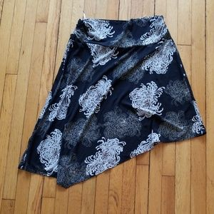 Slinky asymmetrical skirt
